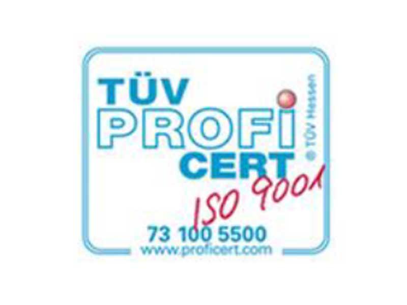 Certificato di Qualità TUV ISO 9001